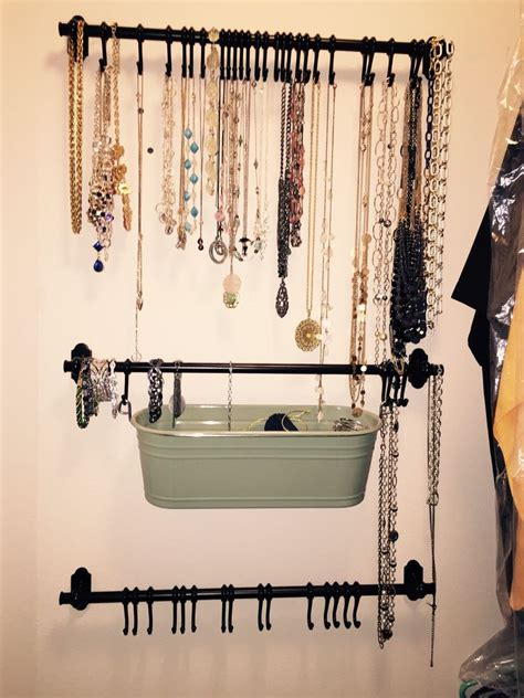 jewelry curtains jewelry organization a great way to use space behind the