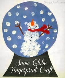 Diy fingerprint snow globe craft for kids crafty morning