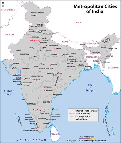 india map with cities metropolitan cities in india major cities of india
