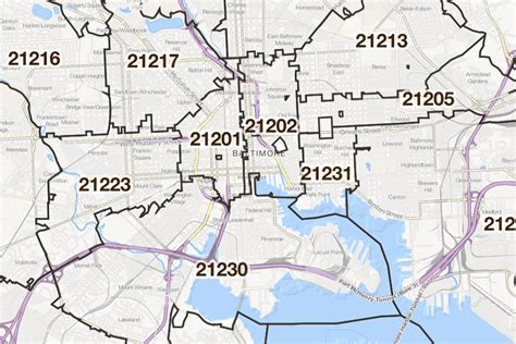 Zip Code Map Baltimore | 301 moved permanently