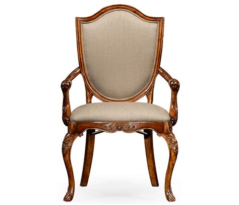 upholstered shield back chair arm