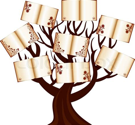 the tree picture book vector illustration of a tree with the books stock