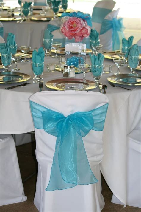 wedding reception ideas for tables in pink and torqouise silver and turquoise wedding theme