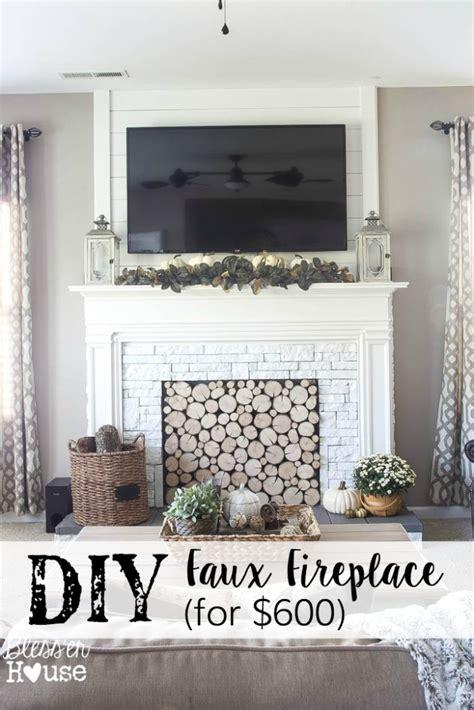 diy faux fireplace ideas diy faux fireplace entertainment center part one bless