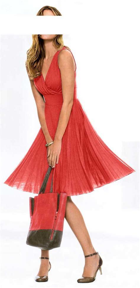 plissee kleid koralle kleider outlet mode shop