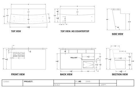Built In Kitchen Desk freelance exhibit design millwork shop drawings exhibit