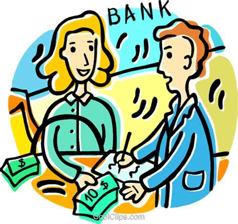 kredit bei welcher bank person einen kredit bei der bank vektor clipart bild