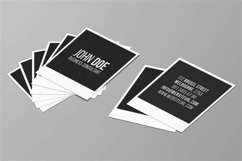 53 Square Business Card Templates Free Psd Word Designs Square Business Card Template Free