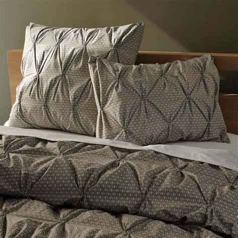Pintuck Duvet Cover Organic Rice Pintuck Duvet Cover Shams West Elm