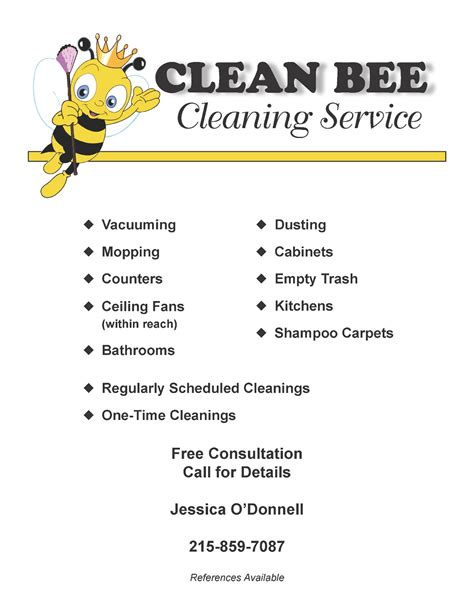 janitorial flyer templates kitelinger designs cleaning service flyer