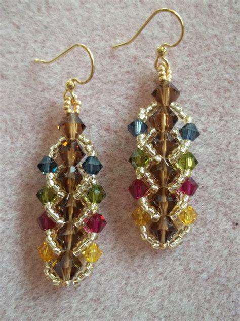 bead weaving tutorials flat spiral stitch earring pdf bead weaving tutorial