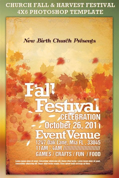 Church Fall And Harvest Festival Template Country Fair Publicity Pinte Harvest Festival Flyer Free Template