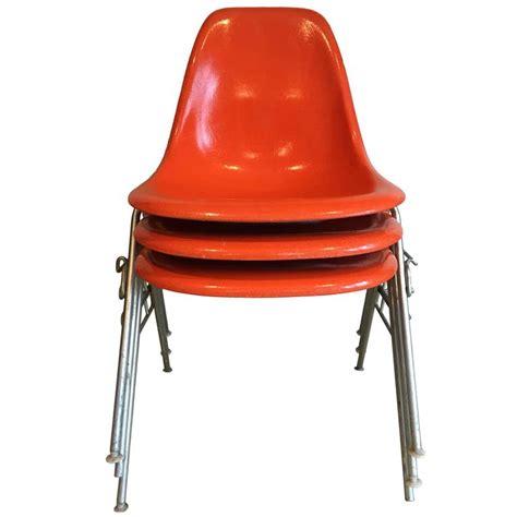 herman miller armchair 18 orange dss herman miller eames vintage fiberglass chairs for sale at 1stdibs