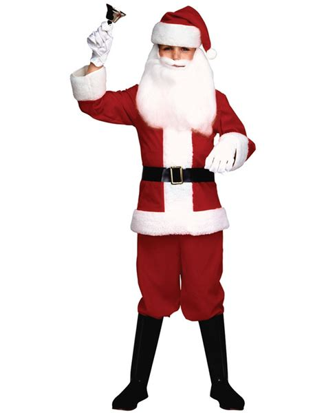 child s santa claus suit red white costume