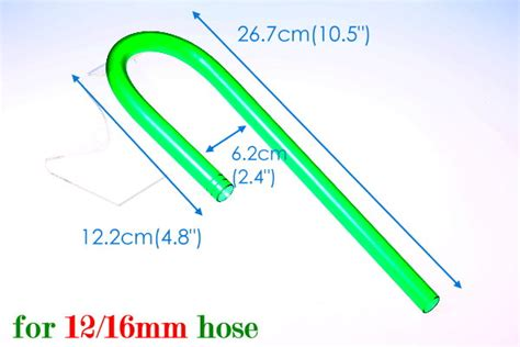 Bend Pipa External Filter Plastic Hijau 12 16mm3 aquarium bend inlet for 12 16mm hose canister filter inflow pipe fish tank ebay