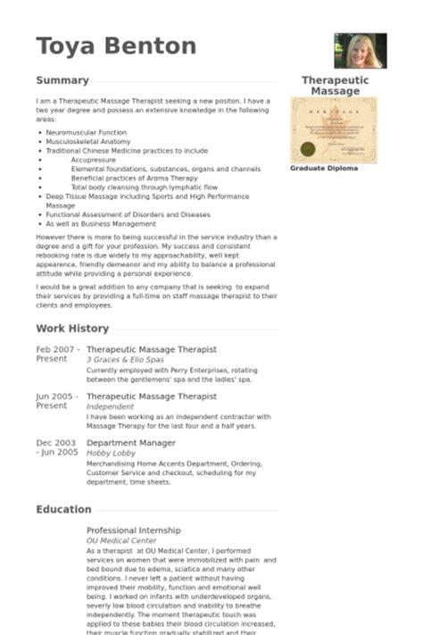 Massage Therapist Resume Sample – Sample resume massage therapist job information technology