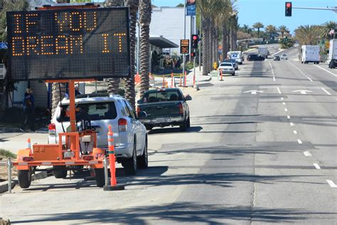 Pch Construction - city provides humorous notes to drivers during pch construction dana point times