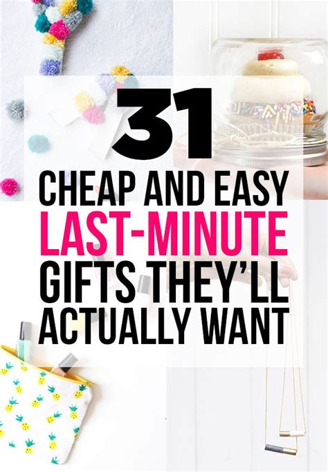 Last Minute Diy S Day Gifts Fast And Easy Birthday Gifts Last Minute Diy