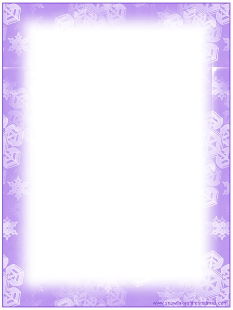 printable snowflakes stationery paper 7 best images of snowflake free printable stationary