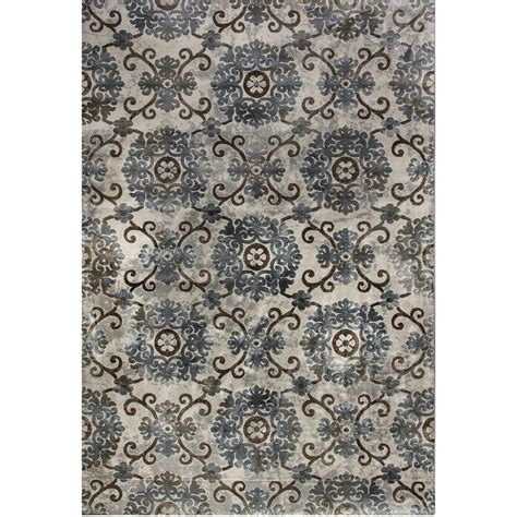 dynamic rugs treasure dynamic rugs royal treasure soft blue mocha 2 ft x 3 ft 5 in indoor area rug rt2490270934