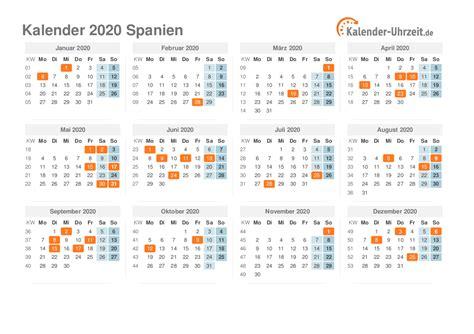 feiertage  spanien kalender uebersicht