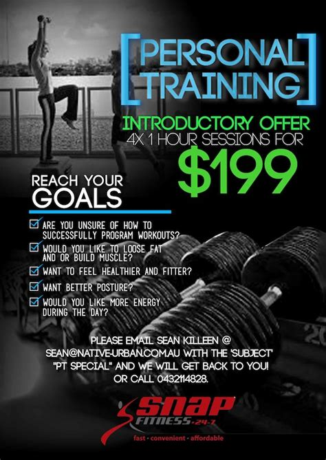 templates for personal training flyers upmarket modern flyer design design for sean killeen a