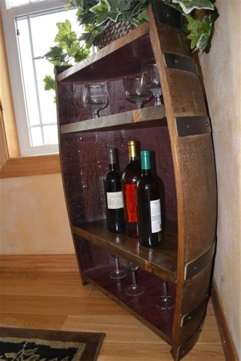 dashing diy wine barrel with diy not necessary let us do it for you wine barrel half shelf recycled repurposed