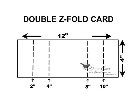 Z Fold Card Template by Bright Hopes Z Fold Card Lakesidester