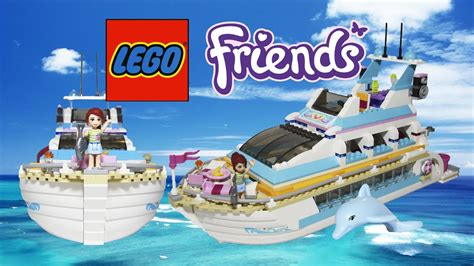lego elves boat lego friends boat dolphin cruiser review lego toys youtube