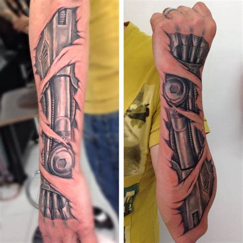 biomechanical arm tattoo biomechanical forearm best design ideas