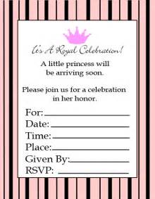 blank baby shower invitations template best template collection