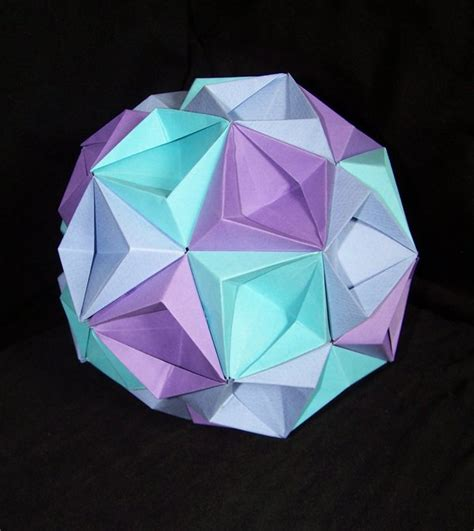 How To Make Origami Balls - specialsapid how to make an origami kusudama