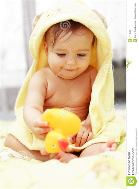 cute child cute baby after bath stock photos image 4116553