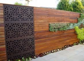 veriscape horizontal wood fence metal screen insert