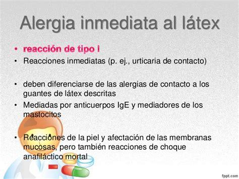 imagenes de alergia al latex alergia al latex