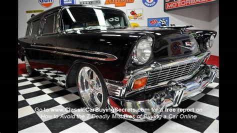 motor sales 1956 chevy nomad v8 classic car for sale in mi