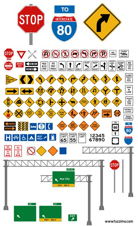 printable version of highway code free vector road signs glossy or plain fuzzimo
