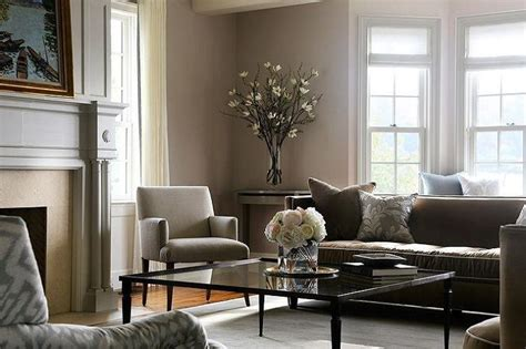 modern living room brown couch
