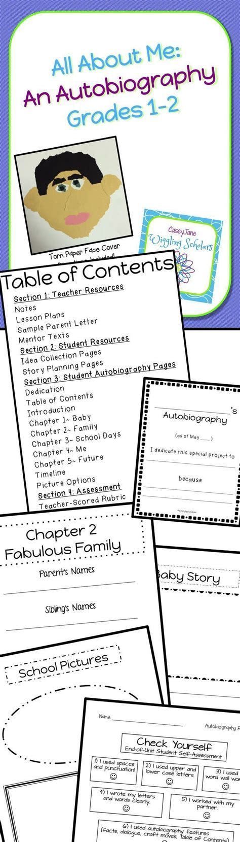 unit 7 biography and autobiography best 25 autobiographies for kids ideas on pinterest