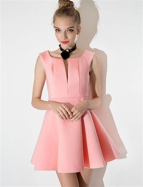 Dress Pink Fit L dress fit and flare dress pink dress pastel dress