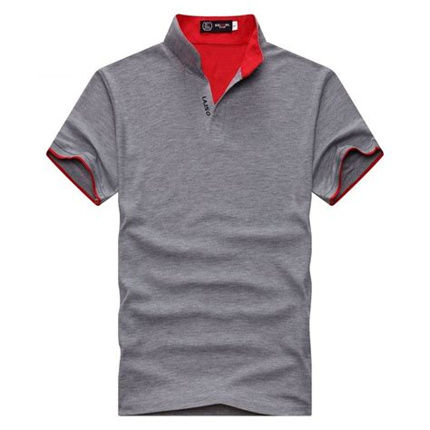 kaos polo shirt pria casual t shirt size l gray