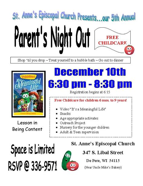 parents night out flyer ideas images