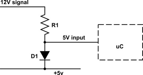 12v to 5v using resistor how can i use a 12 v input on a digital arduino pin electrical engineering stack exchange