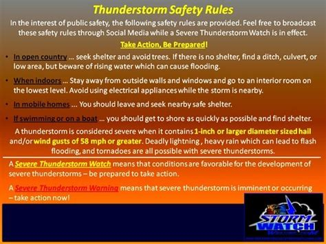 thunderstorm safety safety