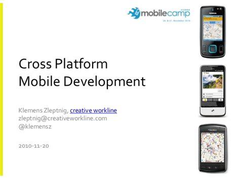mobile cross platform cross platform mobile development