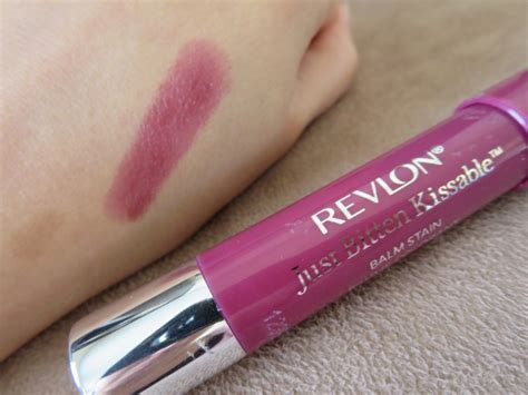 Revlon Kissable Balm Stain revlon just bitten kissable balm stain crush beguin review