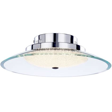 quartz semi flush led ceiling light chrome from litecraft