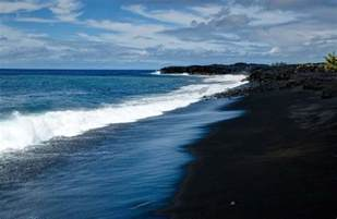 black sand beaches hawaii a darker shade of black everywhere once