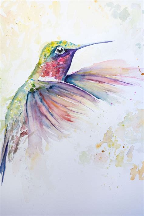 painted bird tattoo best 25 hummingbird painting ideas on