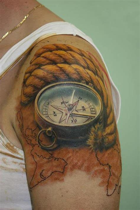 getting a tattoo on your shoulder compass tattoo ideas on men shoulder getting more